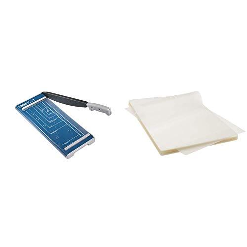 Dahle 502 Hebelschneider (Papierschneidemaschine mit einer Schnittlänge von 320 mm, bis zu DIN A4) & AmazonBasics Thermal Laminating Pouches, A4, 100-Pack