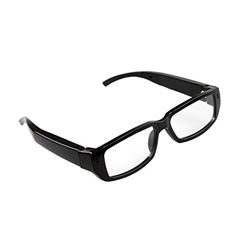 Flylinktech® HD 720p 30FPS Spy Brille,Brille mit Kamera, Kamerabrille Voice Recorder 5MP