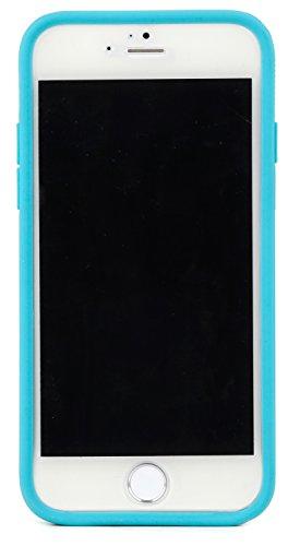 Skech SK25-HR-CHP Hard Rubber 2-teilige, matte Schutzhülle mit Innenpolsterung für das Apple iPhone 6 - gold türkis