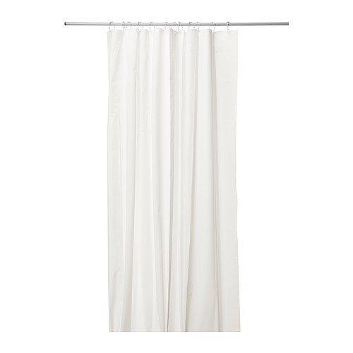 IKEA EGGEGRUND Duschvorhang in weiß; (180x200cm)