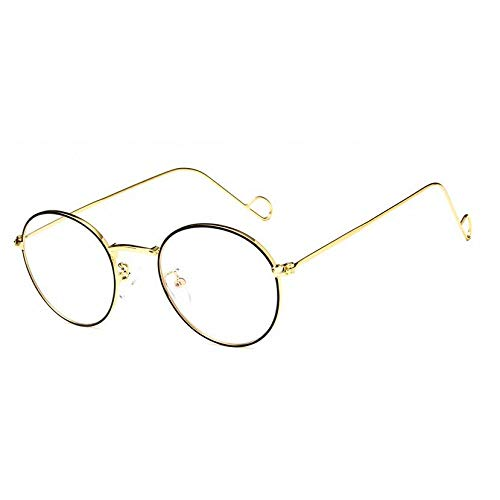 YMTP Metall Aviation Medium Sonnenbrille Rahmen Männer Pilot Brille Für Verschreibungspflichtige Sonnenbrillen Fahren Multifocal Objektive, Gold Schwarz