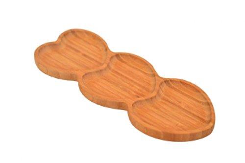 bambum B2620amor-heart Form 3Teil Snack Teller, braun