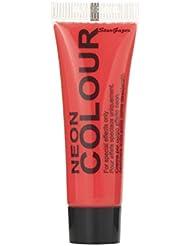 Peinture Visage et Corps Stargazer - couleur : rouge - Fluorescente sous Lumière Noire (UV) - 10ml