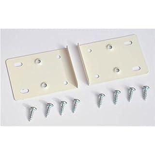 Creme Küche Schrank Tür Scharnier-Reparatur-Set enthält 2Platten und Befestigungsschrauben