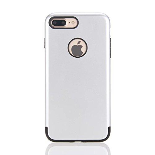 """iPhone 7 Plus Coque,Lantier [de Armure robuste] Heavy Duty antichoc robuste Slim Dual Layer 2 en 1 étui de protection+dur PC hybride TPU souple pour Apple iPhone 7 Plus 5.5"""" Or Rose Silver"""
