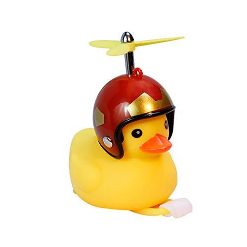 Bell mit leichtem Wind, kleine Ente, Gelb, MTB, Rennrad, Motorrad, Reiten, Fahrradzubehör ()