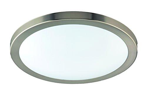 Milano 18 (Eco Light LED-Badleuchte Milano, Deckenleuchte, Aluminium, 1380 lm, 18 W, Durchmesser 35 cm, IP44, silberfarbig 8020-35)