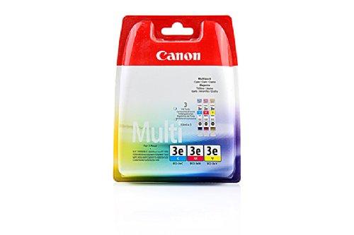 Original Canon 4480A262 / BCI-3E Tinten-Spar-Set (cmy, ca. 500 Seiten, Inhalt 14 ml) für BJC 3000, 3010, 6000, 6100, 6200, 6500; I 550, 6100, 650, 6500, 850; Imageclass MPC 400, MPC 600; MPF 30, 50, 60, 80; Multipass C 100, C 400, C 600, C 755, F 30, F 50, F 60, F 80, MP 700, MP 730; S 400, 450, 4500, 500, 520, 530, 535, 600, 630, 6300, 750; Smartbase MP 700, 710, 730, 740; Smartbase MPC 400, 600