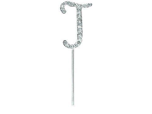 uchstabe J auf dem Vorbau, Silber, 4,5cm ()