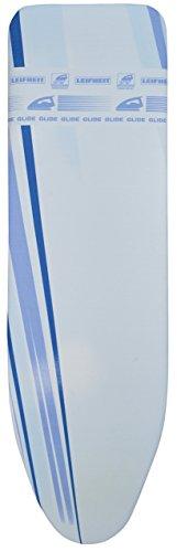 Leifheit Thermo Reflect Glide Universal Bügeltischbezug, für Bügelflächen bis max. 140 x 45 cm, für Dampfbügeleisen, zusätzlicher Gleitzone für superschnelles Bügeln, mit elastischem Gummizug