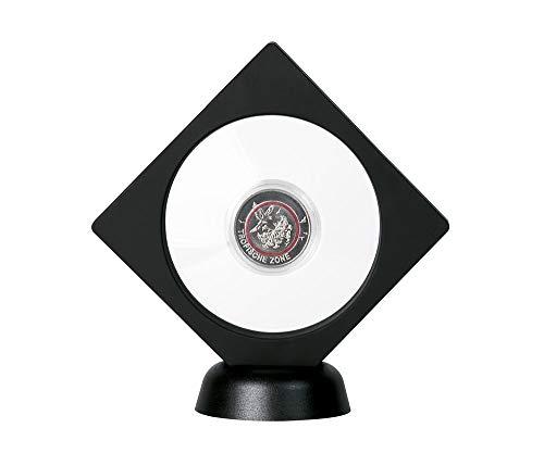 LINDNER Das Original Objektrahmen Nimbus NEMO, mit rundem Ausschnitt Ø 75 mm, schwarz (Nemo Ausschnitt)