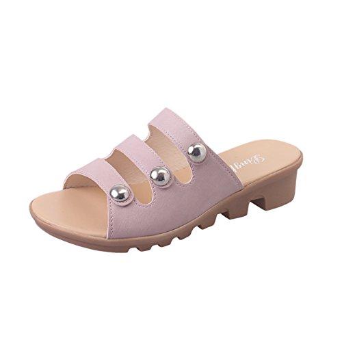 Indossando Un Elegante Flip Flops In Estate/Con Pantofole Antiscivolo Di Fondo Piatto C