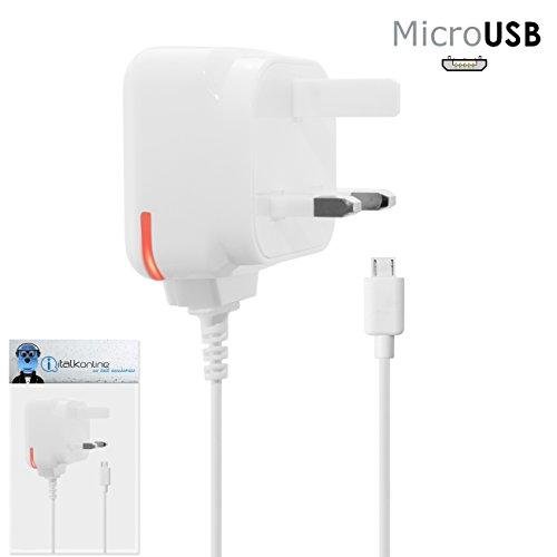 'iTALKonline Amazon Kindle Fire HD 7Tablet 16GB or 32GB 3Pin UK Power rete casa ufficio e caricabatteria da auto con indicatore LED (CE & ROHS)