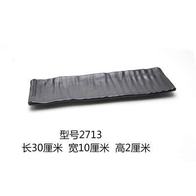 Plaque en plastique Noir Sushi Buffet Grill Carré givré Art Vaisselle, y