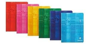 CLAIREFONTAINE - LOT DE 5 Cahiers Piqués Séyès 17x22cm, Carreaux : 3mm 12/12, 32 pages, plusieurs coloris possibles