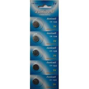 Eunicell CR1220 Lot de 20 piles boutons au lithium 3 V