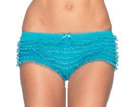 Panty mit Schleifchen neonblau Einheitsgröße ()