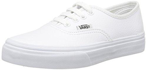 Vans K Authentic Leather, Baskets Basses Mixte Enfant Blanc (Leather/True White)