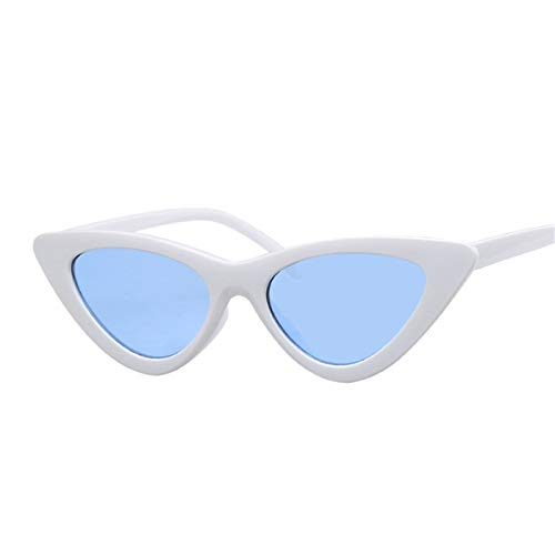 Daawqee Sexy Red Cat Eye Sunglasses Women Shades Famous Luxury New Designer Trendy Sun Glasses Female Small White Black Points White Blue