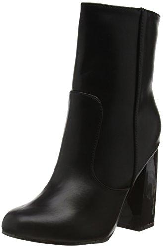Boohoo Block Heel, Bottes Classiques femme Black (Black Pu)