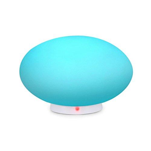 Blumfeldt Flatlight • LED-Lampe • Deko-Lampe • für Innen- und Außenbereich • aus UV-stabilem Polyethylen • wassergeschützt nach IP65 • 6 LEDs mit 16 verschiedenen Farben • Fernbedienung • kabellos