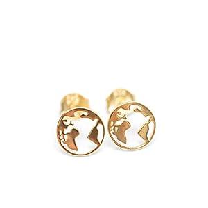 Ohrringe Meine kleine Welt 925 Silber vergoldet