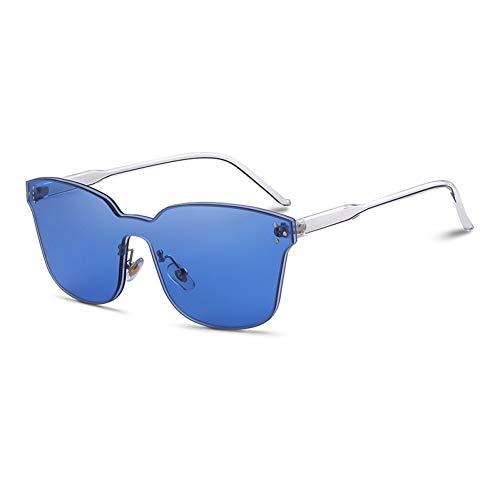 Taiyangcheng Gafas de sol sin montura Con Forma de ojo de gato, sin montura, gafas de sol Rojas transparentes,Azul c4