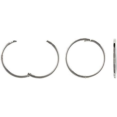 Sterling Argento 12mm Aspetto incernierato orecchini - 12 Mm Incernierato Hoop