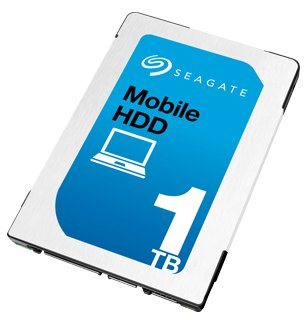 SEAGATE 1TB HDD SATA 5400rpm 6,4cm 2,5Zoll 7mm Bauhöhe 128Mb cache BLK