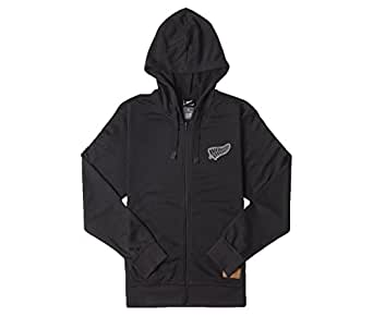 """New Zealand All Blacks 16th Man Hooded Rugby Sweat - size Medium 38-40"""" Chest"""