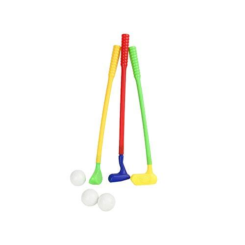 TrifyCore Kinder im Freien Sport-Spielen Golf Spielzeug Multicolor Kunststoff-Minigolf-Set mit Bällen