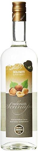 DOLOMITI Haselnuss Schnaps 35% vol.   Haselnussschnaps   milder Haselnussschnaps   1 x 1 Liter