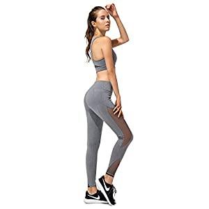Niksa Damen Yoga Set Gym Fitness Bekleidung Set Sport BH Yoga Hose Leggings