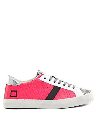 D.a.t.e. HILL LOW-18 Sneakers Femme Cuir/nylon Fuchsia Fuchsia