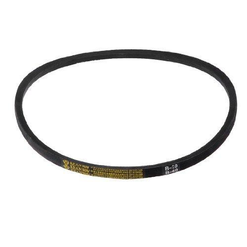 """Sourcingmap - Nero circonferenza interna 40 """"cintura di corda tipo di gomma b cuneo vee"""