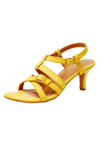 iLO Women's Yellow Synthetic Heels (IL06A371HE-61041) - 7 UK  available at amazon for Rs.979