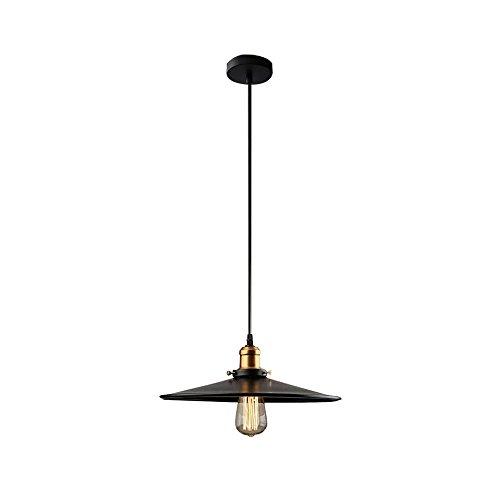 Industrie Style Pendentif Lumière Luminaire, Vintage Metal Au plafond Suspendu Lumière,1 Lumière Noir