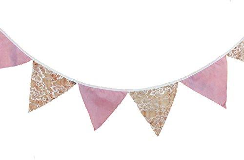 ng Wimpelkette Farbenfroh Wimpeln Girlande für Draußen ,Hochzeit,Halloween,Geburtstag,Urlaub,Weihnachten (rosa) (Halloween Bunting Muster)