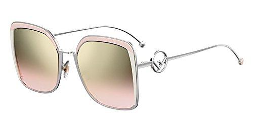 Fendi occhiali da sole f is ff 0294/s pink/brown pink shaded donna