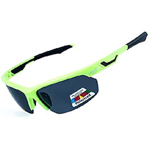 Gafas de Sol de ciclismo Polarizadas Deportivas Deporte equitación PC Bettertol con 5 lentes intercambiables(Verde)
