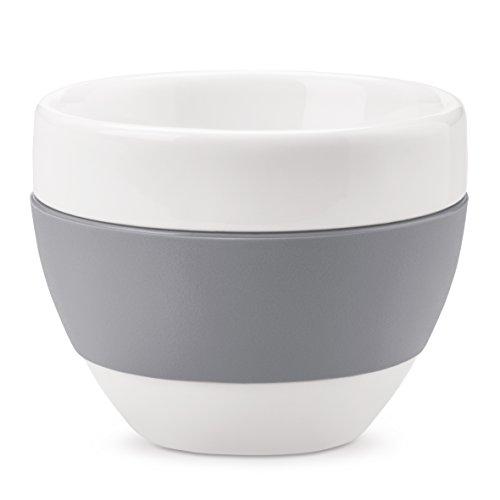 Koziol 3562632 Aroma Tasse à Espresso Plastique/Porcelaine Gris 4,8 x 4,8 x 3,3 cm