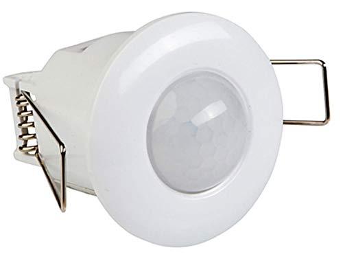 Mini détecteur de mouvement à encastrer au plafond 360° 10-800W 8 m montage encastré : diamètre 40 mm, profondeur 50 mm, ø 64 mm