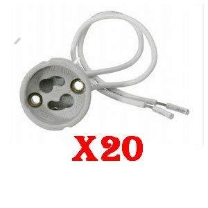 LUMILEDECO - Set di 20 portalampade GU10 per lampadina faretto LED alogena economicaConforme alle norme CE.-