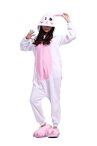Imagen de darkcom unisex adulto de dibujos animados de pijama de conejito mamelucos cosplay disfraces trajes con capucha alternativa