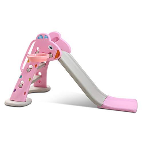 Scivolo per Bambini Plastica Arrampicarsi Giochi per Esterno/Interno/Giardino,Pink