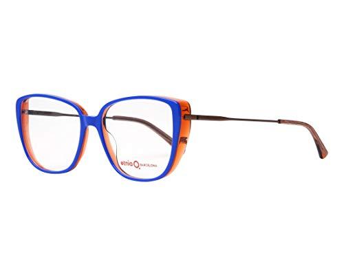 Etnia Barcelona Brille (PRAIA BLOG) Acetate Kunststoff - Metall glänzend blau - kristall orange