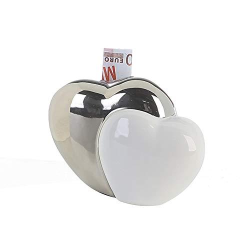 Spardose Gelddose Geldbox Froschkönig Frosch aus Stein weiß 1Stck 16cm x 9cm