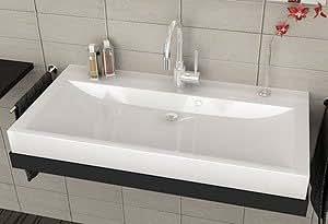 waschbecken aufsatzwaschbecken f r das badezimmer wc gro es wei es designer handwaschbecken f r. Black Bedroom Furniture Sets. Home Design Ideas
