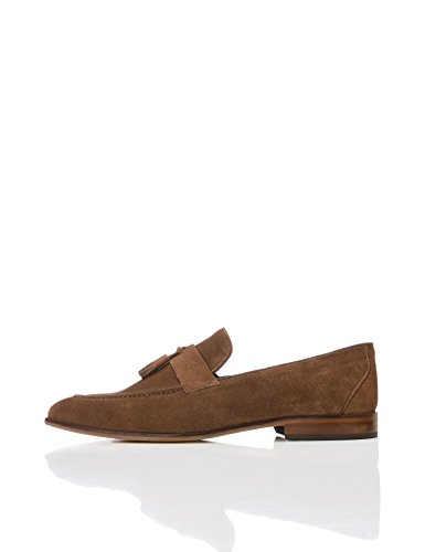 find. Slipper Herren Tasselloafer aus Leder, mit Blockabsatz, Braun (Brown), 45 EU Allen Slip On