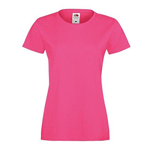 Fruit Of The Loom - T-shirt à manches courtes - Femme Fuchsia